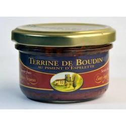 Terrine de boudin au piment d'Espelette