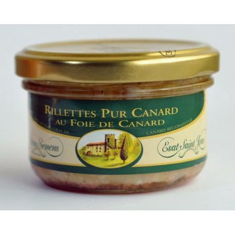 Rillettes pur canard au foie de canard