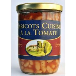 Haricots cuisinés à la tomate