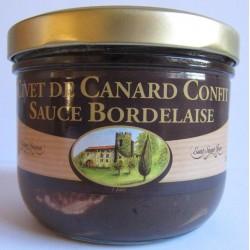 Civet de Canard Confit Sauce Bordelaise